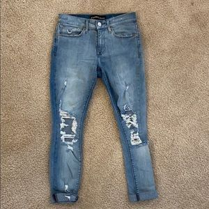 Express Jeans Light Wash Distressed
